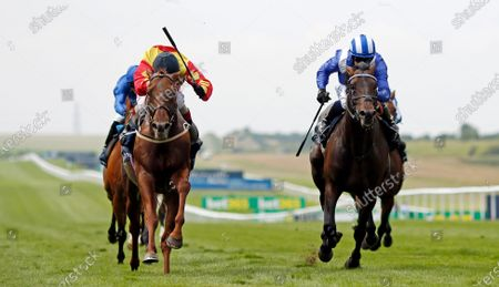 SIR RON PRIESTLEY (left, Franny Norton) beats AL AASY (right) in The Princess Of Wales's Tattersalls Stakes Newmarket