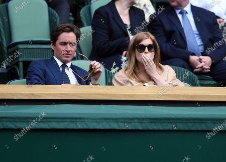 Princess Beatrice and her husband Edoardo Mapelli Mozzi attend the Women's semi final match between Karolina Pliskova of the Czech Republic and Aryna Sabalenka of Belarus at the Wimbledon Championships tennis tournament, Wimbledon, Britain, 08 July 2021.