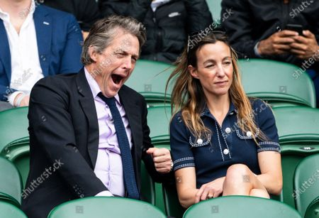 Hugh Grant and Anna Elisabet Eberstein  ] 7.7.2021 Wimbledon Champions Day 9 Andy Hooper /Daily Mail