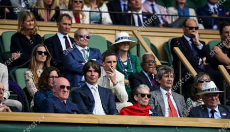 Royal Box with Professor Brian Cox and his wife Gia Milinovich, Eddie Redmayne and his wife Hannah Bagshawe and Sir Trevor McDonald