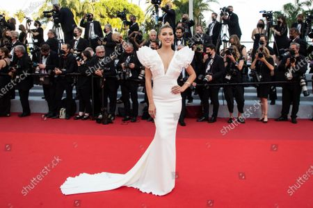 Michelle Salas poses for photographers upon arrival at the premiere of the film 'Everything Went Fine' at the 74th international film festival, Cannes, southern France