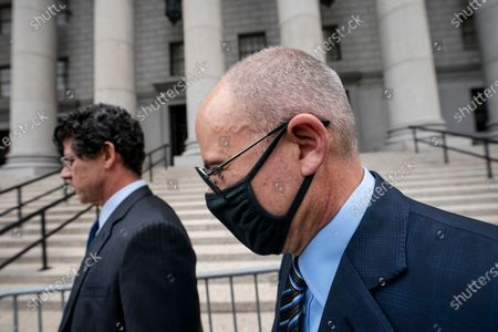 Michael Avenatti arrives for a scheduled sentencing at Manhattan federal court, in New York. The California lawyer who publicly sparred with then-President Donald Trump before criminal fraud charges disrupted his rapid ascent to fame faces sentencing after a jury concluded he tried to extort millions of dollars from Nike