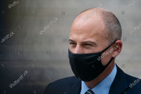 Michael Avenatti departs a scheduled sentencing at Manhattan federal court, in New York. A New York judge has sentenced the combative California lawyer Avenatti to 2 1/2 years in prison for trying to extort up to $25 million from Nike. U.S. District Judge Paul G. Gardephe announced the sentence Thursday in Manhattan, where a jury in early 2020 convicted Avenatti of charges including attempted extortion and fraud