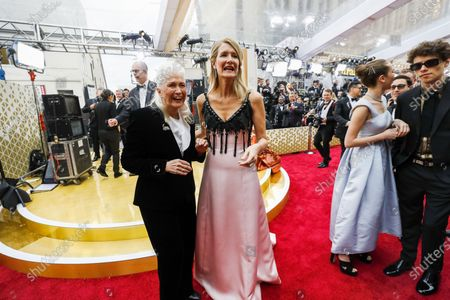 Diane Ladd and Laura Dern arriving at the 92nd Academy Awards on Sunday, February 9, 2020 at the Dolby Theatre at Hollywood & Highland Center in Hollywood, CA. (Al Seib / Los Angeles Times)