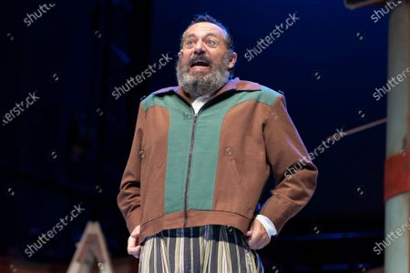 The actor Pepon Nieto during the performance of ANFITRION at the Teatro de la Latina in Madrid on July 8, 2021 Spain