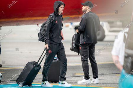 Editorial picture of Denmark national soccer team arrives at  Copenhagen Airport, Amager - 08 Jul 2021