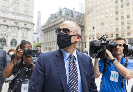 Attorney Michael Avenatti, who once represented adult-film actress Stormy Daniels in her lawsuits against former US President Donald Trump, arrives to United States Federal Court for a sentencing hearing in New York, New York, USA, 08 July 2021. Avenatti was convicted last year for trying to extort money from the company Nike.