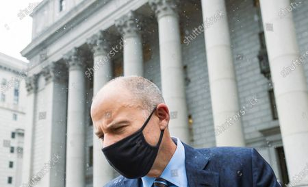 Attorney Michael Avenatti, who once represented adult-film actress Stormy Daniels in her lawsuits against former US President Donald Trump, departs an United States Federal Courthouse following a sentencing hearing in New York, New York, USA, 08 July 2021. Avenatti was sentenced to 30 months in jail following his conviction last year for trying to extort money from the company Nike.