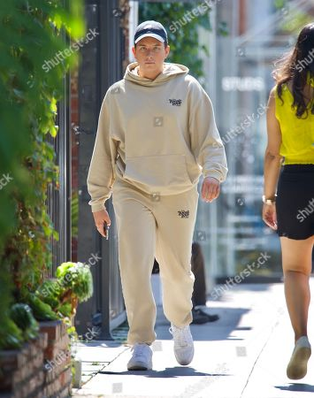 Editorial image of Singer Cameron Hardy Spotted Grabbing a Coffee at Alfred's in West Hollywood Wearing Local Love Club Sweatsuit, Los Angeles, California, USA - 08 Jul 2021