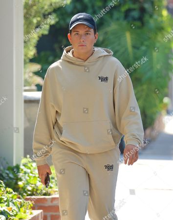 Stock Picture of Cameron Hardy was spotted out in West Hollywood as he grabbed an iced coffee at Alfred's . The singer who just hit 1 Million streams of his debut single on Spotify looked cool in a beige sweatsuit from Local Love Club, an athleisure brand from Celebrity Stylist, Maeve Reilly