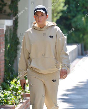 Stock Photo of Cameron Hardy was spotted out in West Hollywood as he grabbed an iced coffee at Alfred's . The singer who just hit 1 Million streams of his debut single on Spotify looked cool in a beige sweatsuit from Local Love Club, an athleisure brand from Celebrity Stylist, Maeve Reilly