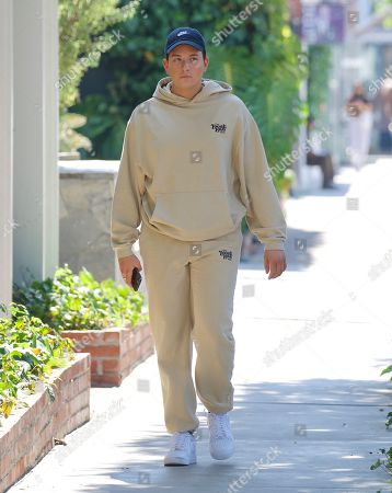 Editorial picture of Singer Cameron Hardy Spotted Grabbing a Coffee at Alfred's in West Hollywood Wearing Local Love Club Sweatsuit, Los Angeles, California, USA - 08 Jul 2021