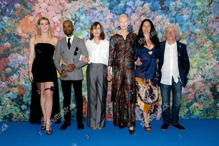 Stock Image of Honor Swinton Byrne, Jaygann Ayeh, director Joanna Hogg, Tilda Swinton and guests
