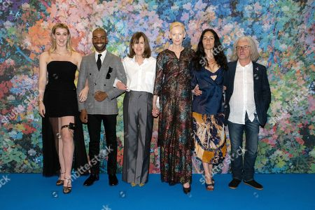 Honor Swinton Byrne, Jaygann Ayeh, director Joanna Hogg, Tilda Swinton and guests