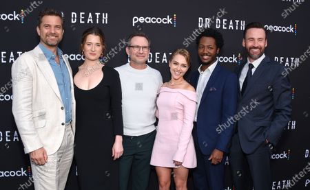 Joshua Jackson, Grace Gummer, Christian Slater, AnnaSophia Robb, Hubert Point-Du Jour and showrunner Patrick Macmanus