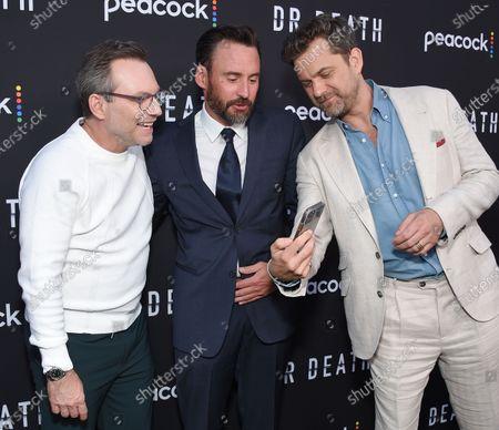 Christian Slater, showrunner Patrick Macmanus and Joshua Jackson