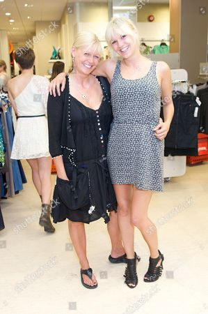 Stock Image of Julie Peasgood and Kate McEnery (mum and daughter both in Hollyoaks)