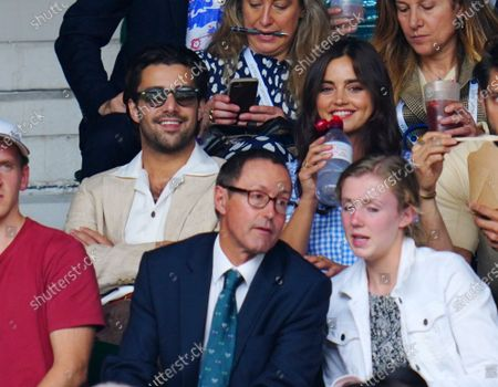 Stock Photo of Fabien Frankel and Jenna Coleman on Centre Court
