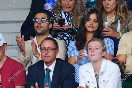 Stock Picture of Fabien Frankel and Jenna Coleman on Centre Court
