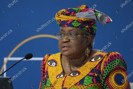 Ngozi Okonjo-Iweala, Director General of the World Trade Organization and former Foreign and Finance Minister of Nigeria, delivers her speech during a panel at a G20 Economy and Finance ministers and Central bank governors' meeting in Venice, Italy