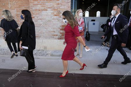 Stock Photo of Canada's Finance Minister Chrystia Freeland arrives for a G20 meeting of Economy and Finance ministers and Central bank governors, in Venice, Italy