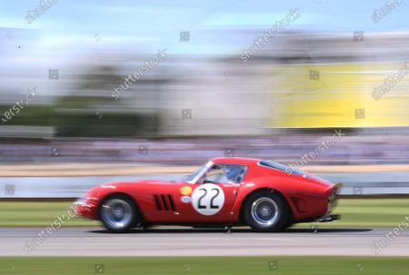 Mario Andretti drives the Ferrari 250 GTO in the Goodwood Hill Climb; Goodwood House, Chichester, England; Goodwood Festival of Speed; Day Two.