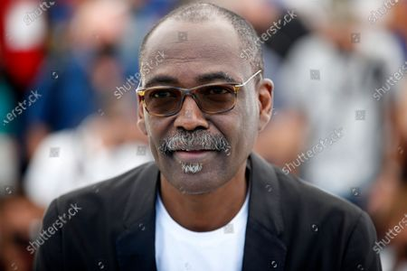 Mahamat-Saleh Haroun poses during the photocall for 'Lingui' at the 74th annual Cannes Film Festival, in Cannes, France, 09 July 2021. The movie is presented in the Official Competition of the festival which runs from 06 to 17 July.