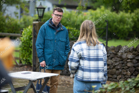 Emmerdale - Ep 9098 Tuesday 13th July 2021 Liv Flaherty, as played by Isobel Steele, struggles with her overwhelming shame, guilt and despair. Also pictured - Vinny Dingle, as played by Bradley Johnson.