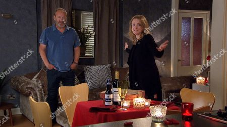 Emmerdale - Ep 9103 Monday 19th July 2021  When Jimmy King, as played by Nick Miles, arrives home, Nicola King, as played by Nicola Wheeler, has set the mood for a romantic evening and is wearing Laurel's dress looking stunning. But will it have the desired effect?