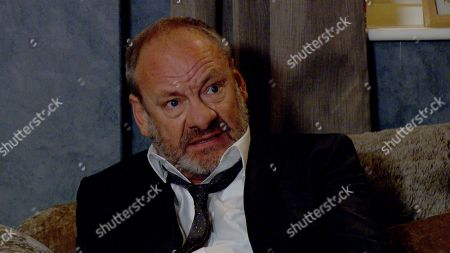 Stock Photo of Emmerdale - Ep 9098 Tuesday 13th July 2021 Nicola King thinks Jimmy King's, as played by Nick Miles, first day in court has gone well, whereas Jimmy's shaken by the experience.