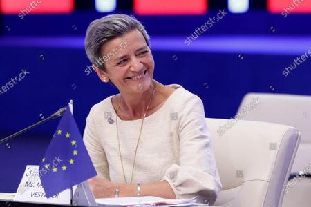 Stock Picture of Executive Vice President of the European Commission Margrethe Vestager attends Opening of the Three Seas Summit and Business Forum.