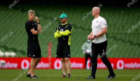 Defensive coach Simon Easterby, assistant coach Mike Catt and forwards coach Paul O'Connell