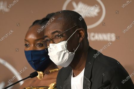 Stock Picture of Achouackh Abakar Souleymane and Mahamat-Saleh Haroun attend the 'Lingui' press conference during the 74th annual Cannes Film Festival, in Cannes, France, 09 July 2021. The movie is presented in the Official Competition of the festival which runs from 06 to 17 July.