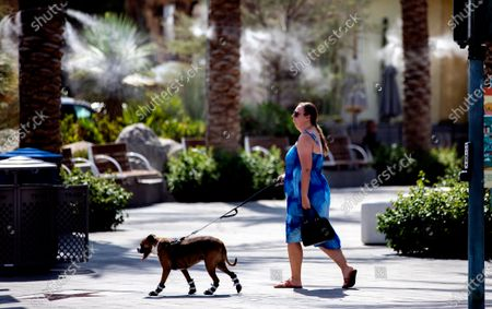 Editorial image of Heat wave in Palm Springs, CA, Downtown, Palm Springs, California, United States - 08 Jul 2021