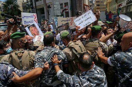 Editorial image of Families of Beirut port blast victims protest at Nabih Berri palace in Beirut, Lebanon - 09 Jul 2021