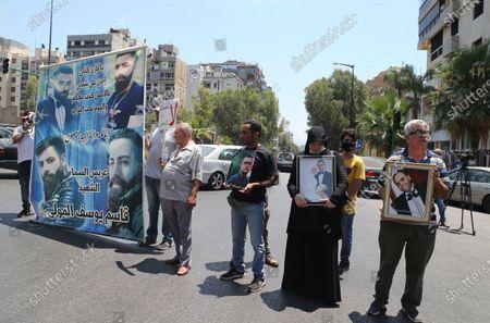 Editorial photo of Families of Beirut port blast victims protest at Nabih Berri palace in Beirut, Lebanon - 09 Jul 2021