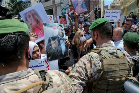 Editorial picture of Families of Beirut port blast victims protest at Nabih Berri palace in Beirut, Lebanon - 09 Jul 2021
