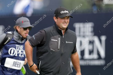 Patrick Reed (USA) walks from the tee at the 1st hole; Royal St Georges Golf Club, Sandwich, Kent, England; The Open Championship Tour Golf, Day Two.