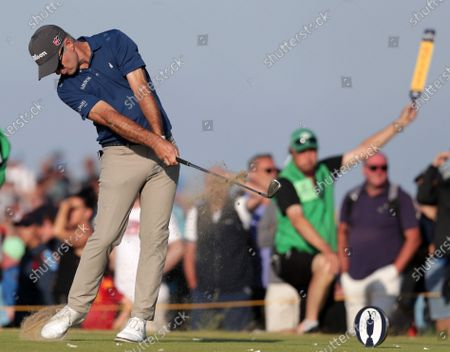 Kevin Streelman (USA) hits his tee shot on the 16th hole; Royal St Georges Golf Club, Sandwich, Kent, England; The Open Championship Golf, Day Two.