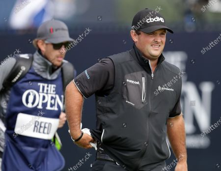 Patrick Reed (USA) walks from the tee at the first hole; Royal St Georges Golf Club, Sandwich, Kent, England; The Open Championship Tour Golf, Day Two.