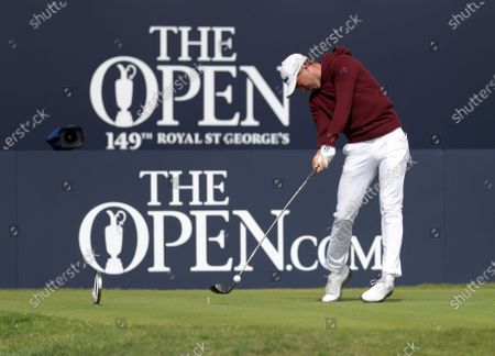 Justin Thomas (USA) hits his driver from the tee at the 1st hole; Royal St Georges Golf Club, Sandwich, Kent, England; The Open Championship Tour Golf, Day Two.