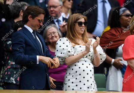 Princess Beatrice and husband Edoardo Mapelli Mozziin the Royal Box