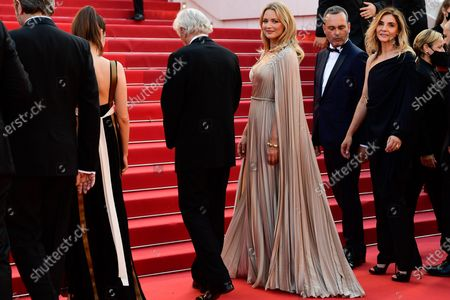 (2L-R) Daphne Patakia, director Paul Verhoeven, Virginie Efira, Michel Merkt, and, Clotilde Courau arrive for the screening of 'Benedetta' during the 74th annual Cannes Film Festival, in Cannes, France, 09 July 2021. The movie is presented in the Official Competition of the festival which runs from 06 to 17 July.