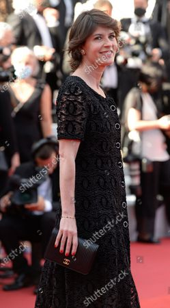 Irene Jacob arrives for the screening of 'Benedetta' during the 74th annual Cannes Film Festival, in Cannes, France, 09 July 2021. The movie is presented in the Official Competition of the festival which runs from 06 to 17 July.