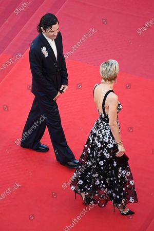 Stock Picture of Melita Toscan du Plantier (R) and Nicolas Maury arrive for the screening of 'Benedetta' during the 74th annual Cannes Film Festival, in Cannes, France, 09 July 2021. The movie is presented in the Official Competition of the festival which runs from 06 to 17 July.