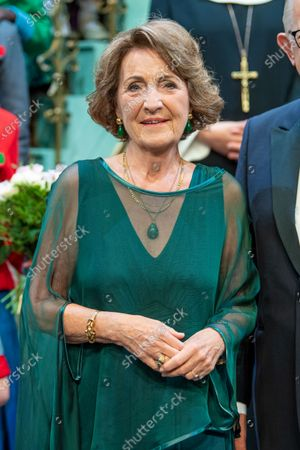 Princess Margriet at the premiere of the sound of music in The Hague, the Netherlands.