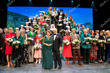 Princess Margriet with her partner Pieter Van Vollenhoven at the premiere of the sound of music in The Hague, the Netherlands.