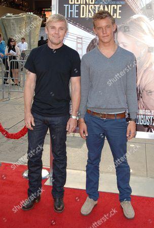 Stock Photo of Rick Schroder and son Luke Schroder