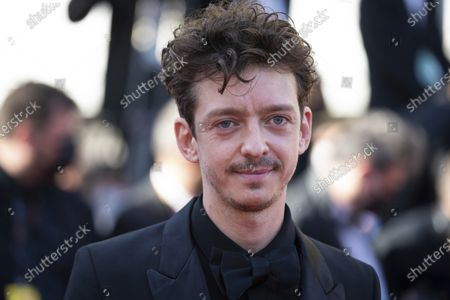 Stock Image of Nahuel Perez Biscayart poses for photographers upon arrival at the premiere of the film 'Benedetta' at the 74th international film festival, Cannes, southern France