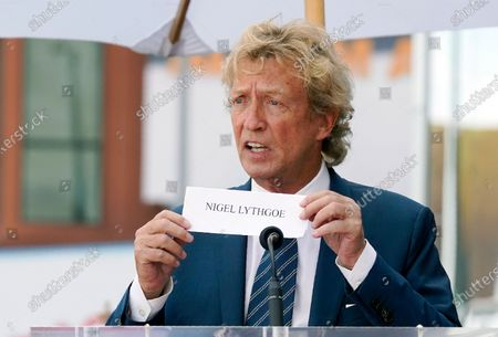 Television producer Nigel Lythgoe speaks at a ceremony honoring him with a star on the Hollywood Walk of Fame on his 72nd birthday, in Los Angeles. The ceremony was initially scheduled for April 1, 2020, but was postponed due to the coronavirus outbreak